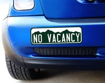 Large Colorado No Vacancy - Bumper Sticker