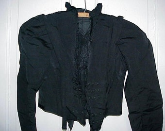Womans Antique Victorian Black Boleo Jacket