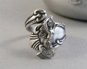 Sirens Spell,Ring,Mermaid Ring,Mermaid Jewelry,Mermaid,Ocean jewelry,Nautical Ring,Mermaid in Handmade,Silver Mermaid,Mermaid Spoon Ring