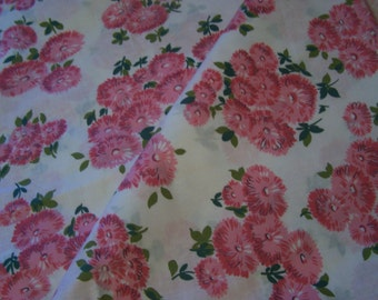Mid Century Pink Floral Fabric, up to 6 YDS, Pinks, Quilting FAbric,