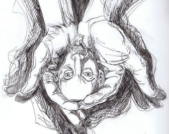 My head in my hands