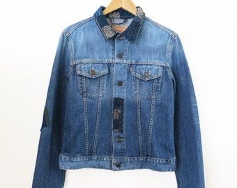Summer Sale 15% Off - Boro Levi's Trucker Jacket (L) Women