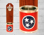 Tennessee Wall Mounted Bottle Opener with State Flag Bottle Cap Catcher - Beer Bottle Opener - Groomsmen and Housewarming Gift