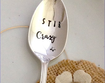 Hand Stamped Vintage Silverplate Coffee Spoon - Blithe Vintage Etsy