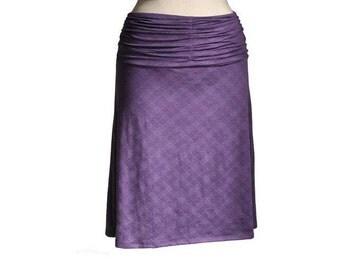 Pleated skirt, Checkered skirt, Aline skirt, Custom skirt, Plus size, Violet skirt, Maternity skirt, Wide waist skirt, Plus size skirt, Midi