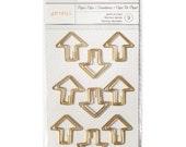 Arrow Paper Clips - Gold - Embellishments - for your Happy Planner, Filofax, Traveler's Notebook, Journal, Erin Condren