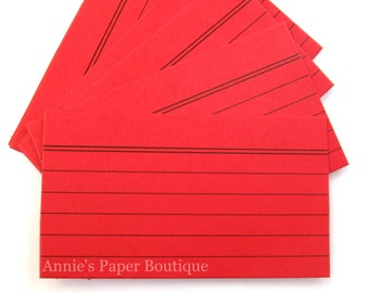 Mini Index Card - Red (24) - Tags, Notes, Planners, Stationery, Journaling, Memory  Keeping, Traveler's Notebook, Valentine's Day, Love