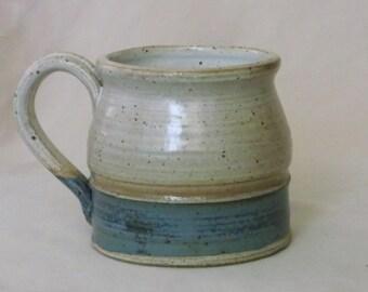 Tan and Turquoise Mug