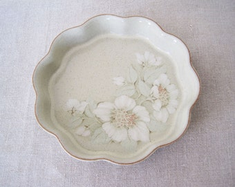 "Denby Langley Daybreak Quiche Dish 8"" Sage Green Stoneware England English"