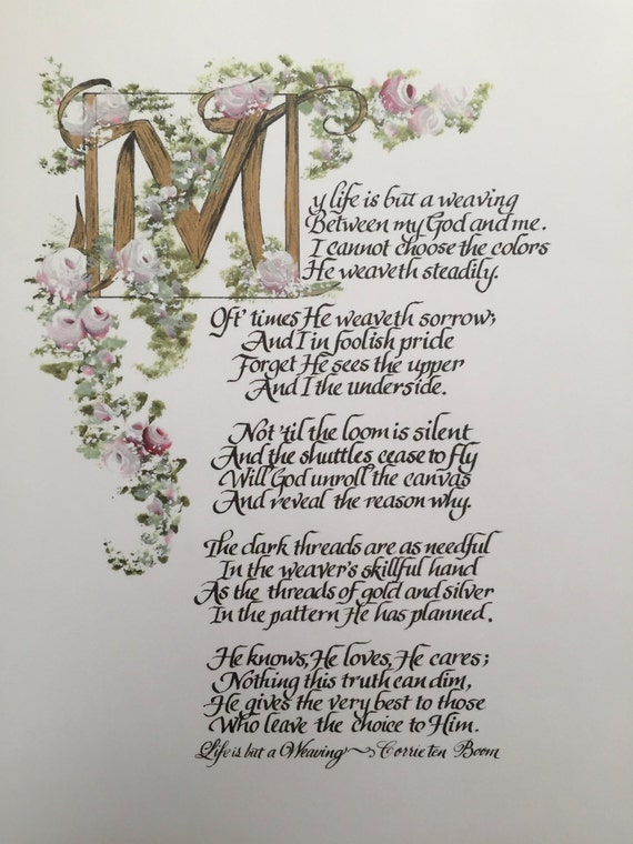 My Life Is But A Weaving White The Tapestry Poem By Corrie Ten