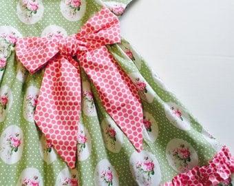 4T Cottage Rose Dress