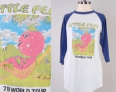 Vintage 70s LITTLE FEAT concert t shirt / 1978 world tour / Raglan baseball tee / Soft thin and worn in
