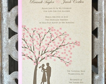 Wedding Invitations, Cherry Blossom, Cherry Blossom Wedding Invites, Summer Wedding, Spring Weddings, Outdoor Weddings, Affordable Wedding