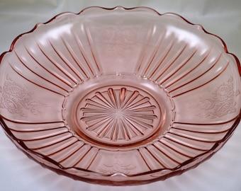 Hocking Mayfair Pink Low Flat Bowl