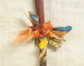 Shaman Stick , Shaft , Wand , Spiritual , Tribal , Magic , Handmade , Hand Crafted , Artifact , Feathers , Colorful , Spiritual Religion