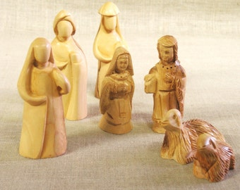 Nativity Set , Hand Carved , Wood Carving , Carved Wood , Nativity , Religious Figures , Christmas Decor , Holiday Decor , Wise Men ,Holiday