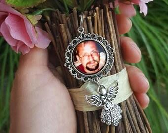 Wedding Bouquet Photo Charm, Bouquet Photo Charm, Memorial Photo Charm, Wedding Bouquet, Bouquet Photo Jewelry, Photo Jewelry, Remembrance