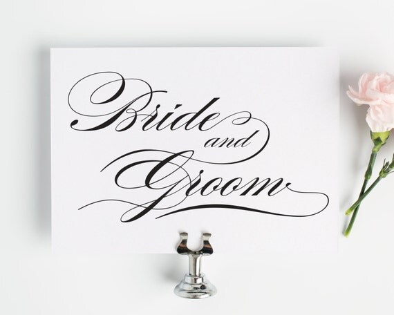 """Bride and Groom Sign, 5x7"""", Perfect for your Wedding Reception or Sweetheart Table"""