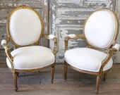 Antique French Gilt Wood Chairs