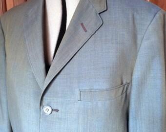 1960s Three-button Sharkskin Suit Jacket