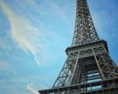 Fine Art Photography Eiffel tower Tour colour, color, vintage Paris, France, 8x10, 8x12