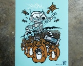 HOW Denver - hand pulled screenprint poster (Glow in the dark)