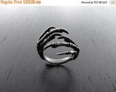 HALLOWEEN SALE Double Claw Starling Ring