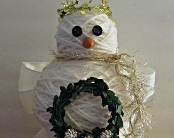 Angel Snowman Figurine - Tabletop Centerpiece Winter Christmas Holiday Decoration - For Her, For Him, Gift Idea