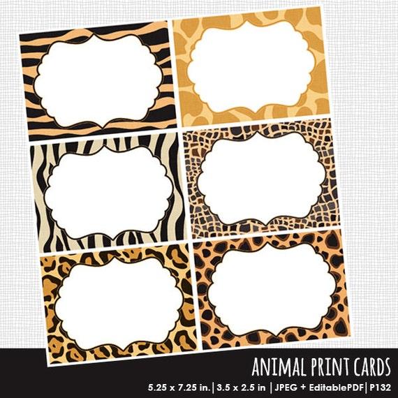 Animal print invitations invitation template editable pdf cards il570xn maxwellsz