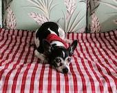 Dog Blanket Red Palaka and Aloha   Barking Dog Blanket