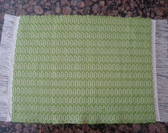 Handwoven Placemats - Lime Green