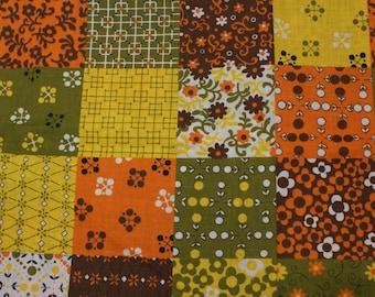 Vintage 70's Cotton Fabric