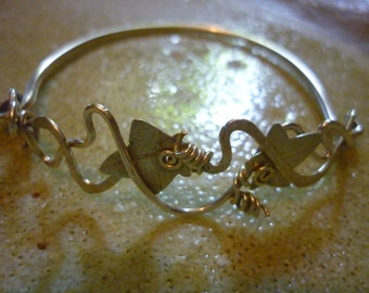 Ivy Headgerow Bracelet Sterling Silver SquareHare UK Vegan free postage magical