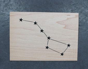 Big Dipper - Screen print on wood veneer //  La Grande Ours - Sérigraphie sur placage de bois