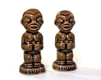 Vintage Tiki Gods Luau Hawaiian Salt and Pepper Shakers