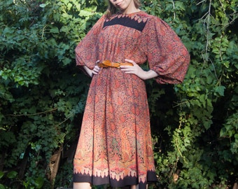 Vintage boho sheer dress - sz. FREE