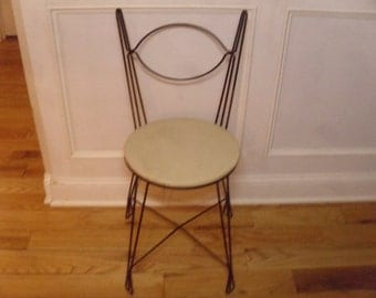 Vintage 1950's Tony Paul Ice Cream Parlor Chair  Free Shipping!