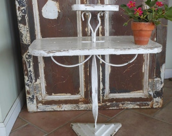 Handmade folk art tiered display table