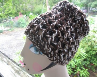 Brown Skull Cap by SuzannesStitches, Pill Box Hat, Slouchy Hat, Brown Beanie, Chemo Hat, Teen Hat, Mens Hat, Womens Hat, Skull Cap, Cloche