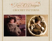 2 Crochet PDF Patterns - Little Bear and Lion Cocoon Patterns