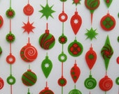 Ornaments Chocolate Transfer Sheet