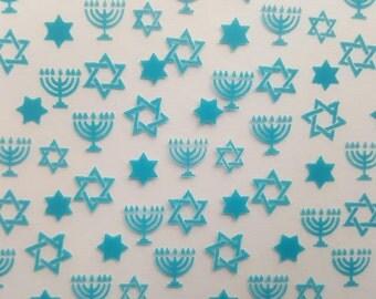 Hanukkah Chocolate Transfer Sheet