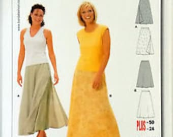 Burda 8974 Skirt Pattern Sizes 10-24