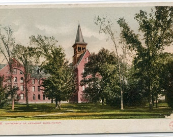 University Vermont Burlington VT 1907c postcard