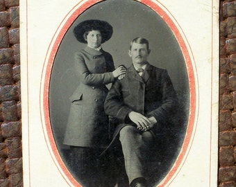 Tintype - Couple Lucky in Love