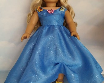 18 inch doll clothes - 2015 Cinderella with Butterfly Shoes - #713 - FREE SHIPPING