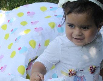 Toddler duvet cover - Organic toddler duvet Cover- Baby Duvet Cover - Toddler Duvet Cover - Crib Duvet- Toddler Bedding - Ice cream bedding