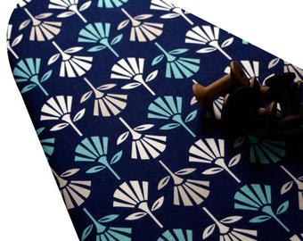 Ironing Board Cover custom sizes including brabantia, more ELASTIC around edges pick your size Gracie Girl dark blue with bold flowers