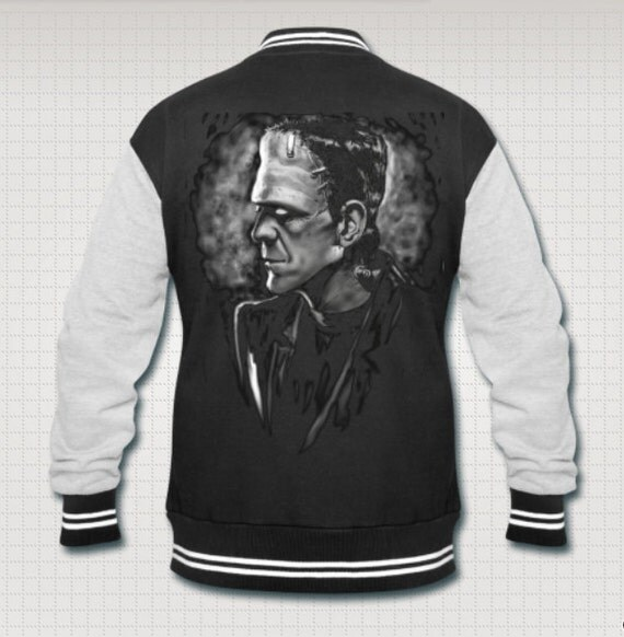 Frankenstein's monster horror varsity jacket