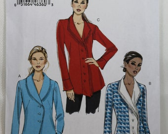 Vogue 9152, Misses' Top Sewing Pattern, Semi-Fitted Top Sewing Pattern, Misses Blouse Pattern, Misses' Size 6, 8, 10, 12, 14, Uncut